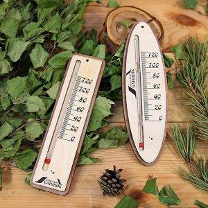 Термометр д/бани жидкостный прямоугольный/овал