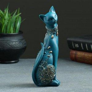 "Статуэтка ""Кошка"" синяя. 20х8см"