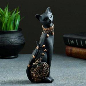 "Статуэтка ""Кошка"" черная. 20х8см"