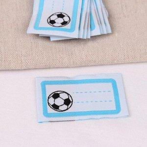 Нашивка «Мяч», 5,5 ? 3,2 см, 10 шт, цвет голубой