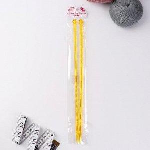 Спицы для вязания, прямые, d = 7 мм, 35 см, 2 шт, цвет МИКС