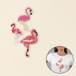 Набор термоаппликаций «Фламинго», 3 шт
