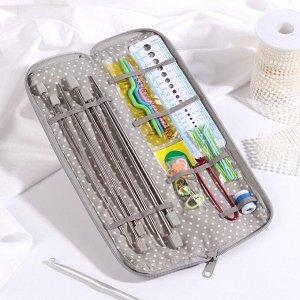 Набор для вязания «Шебби-шик», 27 ? 8 см, 34 предмета, в пенале