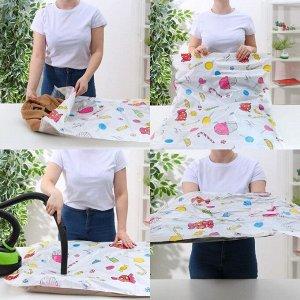 Вакуумный пакет для хранения одежды «Сладости», 60*80 см