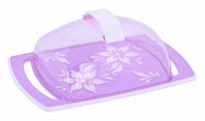 Маслёнка Масленка ФИОЛЕТ [ПРЕМЬЕРА]. Масленка «Премьера» прекрасно подходит для хранения масла и сервировки стола. Масленка состоит из прямоугольного пластикового подноса и прозрачной пластиковой крыш