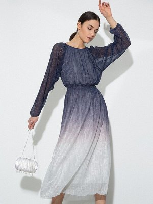 Платье А-силуэта с градиентом цвета PL1120/serebro