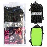 """Мочалка """"Fitness Woman"""" AktiveTex M, черная, 19х12см"""