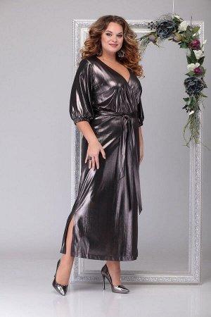 Платье Michel chic 2030 чёрный+золото