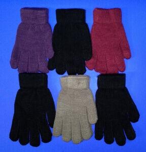 Перчатки женские гладкие ассорти