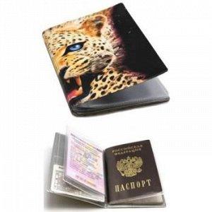 """Бумажник водителя + обложка для паспорта """"Лео"""" кожзам 2812.АП-1 ДПС {Россия}"""