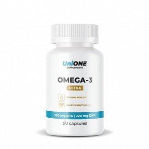 Омега 3 (Рыбий жир) UniONE Ultra (60%) - 90 капсул