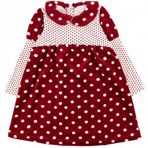 Платье велюр 166В2/3 для девочки