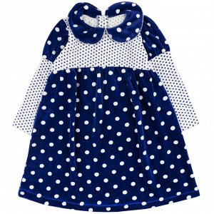 Платье велюр 166В2/1 для девочки