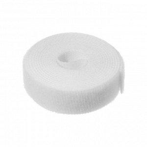 Лента-липучка для стяжки проводов, 1 шт, 100*1,5 см, белая