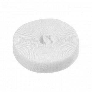 Лента-липучка для стяжки проводов, 1 шт, 300*1,5 см, белая