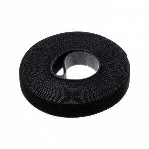 Лента-липучка для стяжки проводов, 1 шт, 500*1,5 см, черная