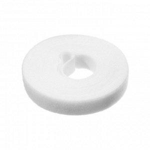 Лента-липучка для стяжки проводов, 1 шт, 500*1,5 см, белая