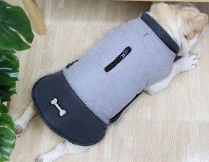 Теплый жилет для собаки, цвет серый