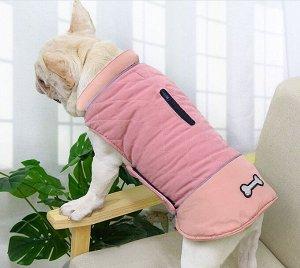 Теплый жилет для собаки, цвет розовый