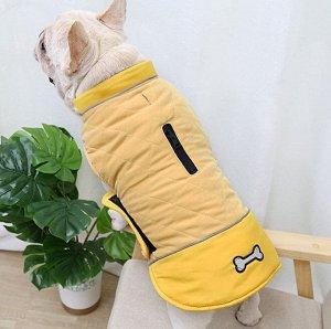Теплый жилет для собаки, цвет желтый