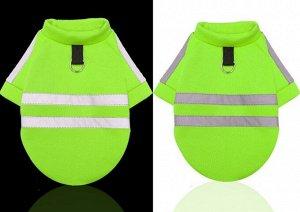 Комбинезон для животного, со светоотражающими элементами, цвет зеленый