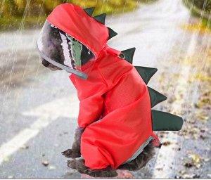 Дождевик для собаки, цвет красный