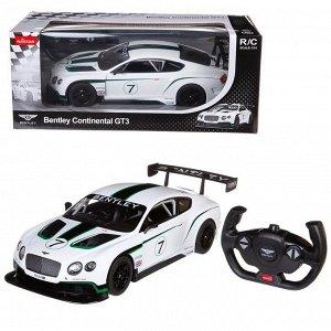 Машина р/у 1:14 Bentley Continental GT3, цвет белый 27MHZ3