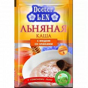 Льняная каша Дисплей со злаками и медом 35г *25, шт
