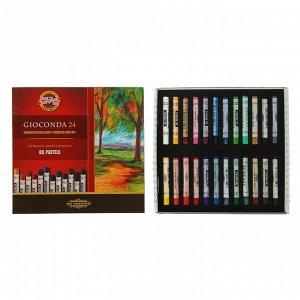 Пастель масляная 24 цвета Koh-I-Noor Gioconda, в картонной упаковке