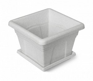 Кашпо Кашпо  5,1л Д24*24см с под [КВАДРО] КОЛОР. Классические горшки квадратной формы имитируют керамические, но благодаря  материалу они значительно легче, дешевле и проще в уходе. Горшки хорошо впиш