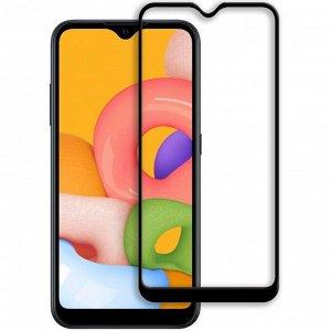 Защитное стекло Samsung A01 Core (черный) 9D тех.упаковка