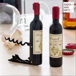 """Штопор- открывалка с магнитом """"бутылочка вина"""""""
