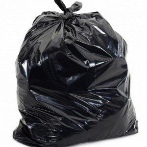 Пакет мусорный 360 л. 700+500*1150, 27 мкм, черный 25 шт