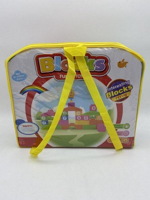 Конструктор детский Blocks Funny Toys в рюкзачке 54 детали