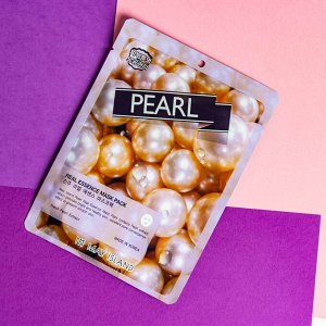 Тканевая маска с жемчугом Real Essense Pearl Mask Pack 25ml