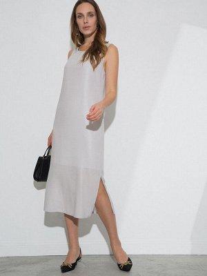 Платье Состав ткани: Вискоза 100% Длина: 118 См. Описание модели Серый сарафан с серебристым мерцанием из капсульной коллекции New Year. Модель длины миди с полуприлегающим силуэтом. Оснащена застёжко