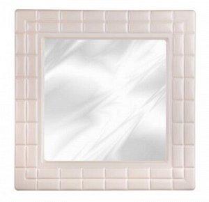 Зеркало Зеркало  [НИКА] 49,5*49,5*2,5см квадр СЛОНОВАЯ КОСТЬ. Зеркало имеет квадратную классическую форму и глянцевую раму, имитирующую кирпичную кладь, что соответствует современным тенденциям в инте