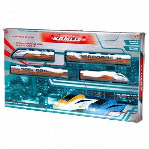 Железная дорога Abtoys КОМЕТА Железнодорожный экспресс 214см (желтый поезд), со световыми и звуковыми эффектами112