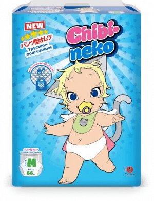 """Подгузники-трусики детские одноразовые """"Maneki"""" Chibi-neko, размер M, 6-11 кг, 56 шт./упак"""