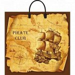 Пакет с пластик ручкой Пиратский клуб 37 х 34/80