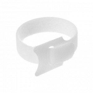 Лента-липучка для стяжки проводов, 1 шт, 15*1,2 см, белая