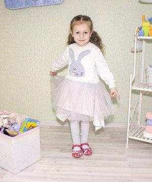 """Платье для девочки (футер петельный) """"Зайка Мила """""""