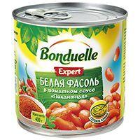 """Bonduelle (Бондюэль) Фасоль белая в томатном соусе """"Пикантная"""" (425 мл)"""
