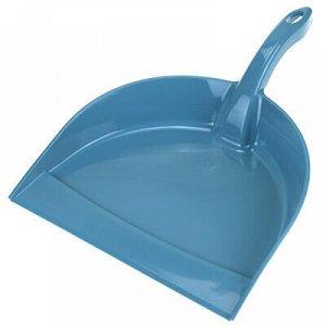 """Совок для мусора пластмассовый """"Идеал"""" 23x31х5см, серо-голуб"""