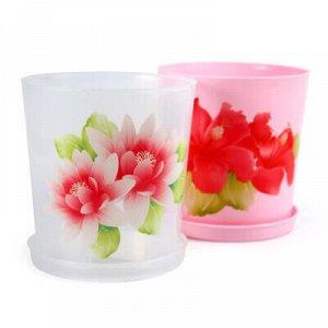 Горшок для орхидеи пластмассовый 1,8л, д14см, h15см, прозрач