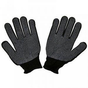 Перчатки нейлоновые с ПВХ, размер M, черный (Китай)