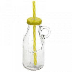 """Бутылка стеклянная """"С делением"""" 0,25л, д6,2см h14,5см, д/осн"""