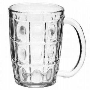"""Кружка для пива стеклянная """"Север"""" 350мл, д8см h11,6см (Кита"""