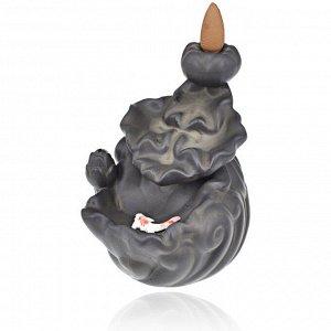 """PBKS013 Подставка для благовоний """"пуля"""" с рыбкой, 9,5х8х10см, керамика"""
