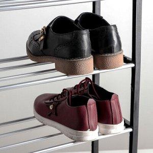 Полка для обуви, 4 яруса, 42?19?60 см, цвет ёрный